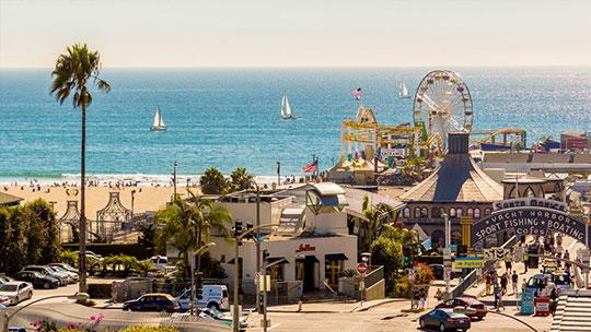 Santa Monica Pier Ocean Avenue Santa Monica