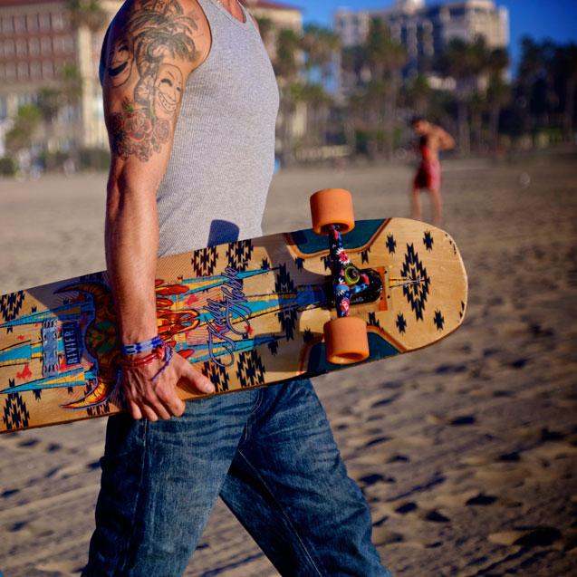 Stakeboarding in Santa Monica