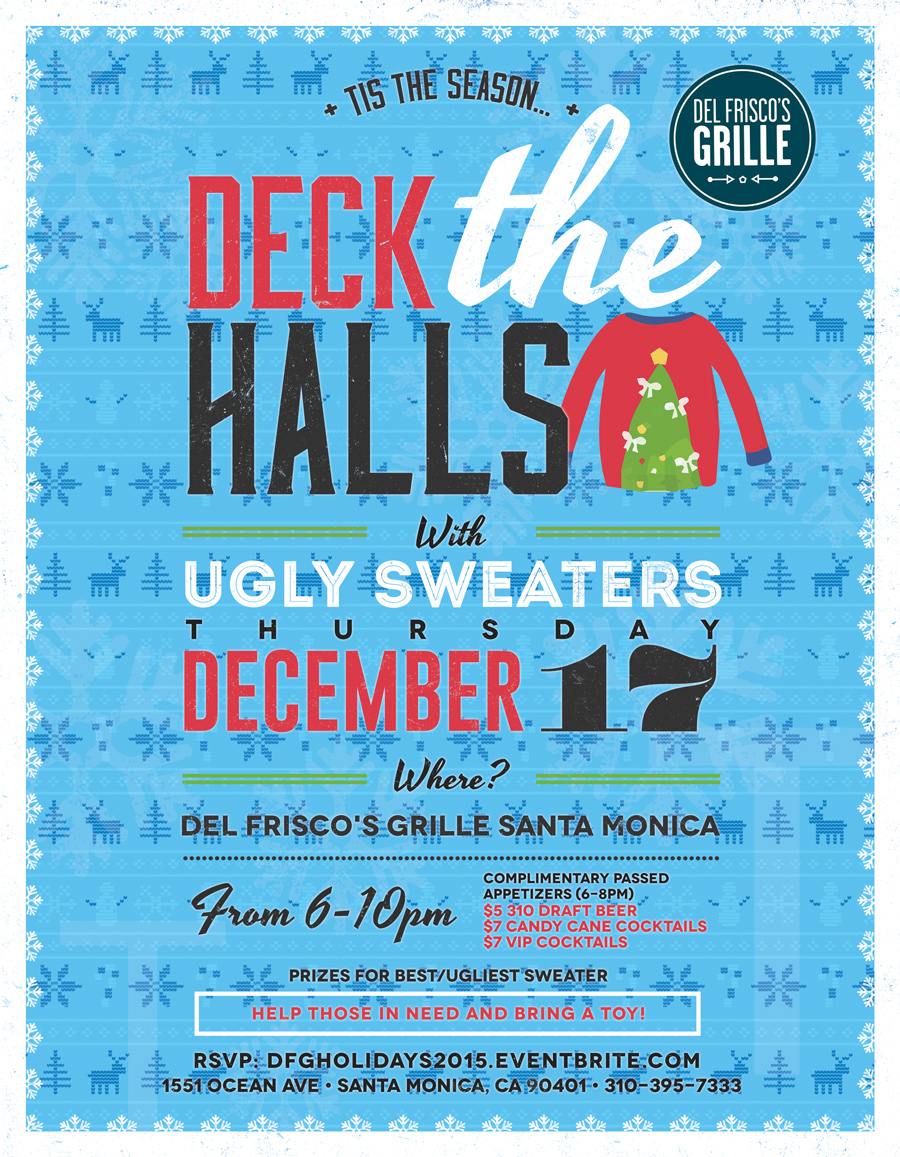 Del Frisco's Grille Ugly Sweater Party