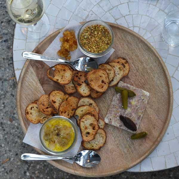 Esters Wine Shop Sablefish Chicken Liver Pork Terrine
