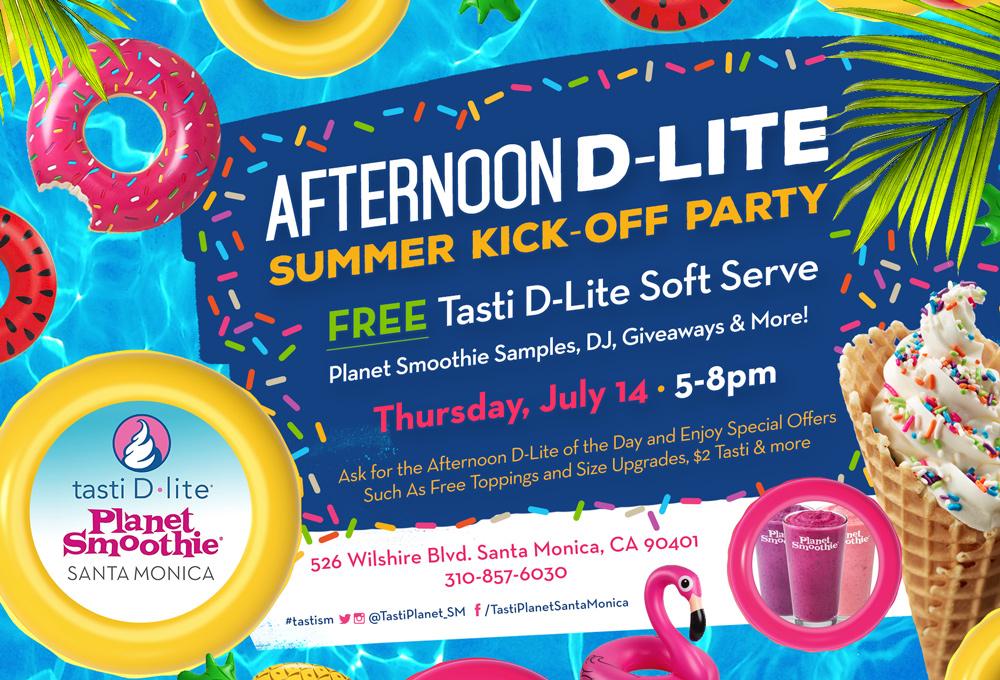 Tasti D Lite S Afternoon D Lite Summer Kick Off Party