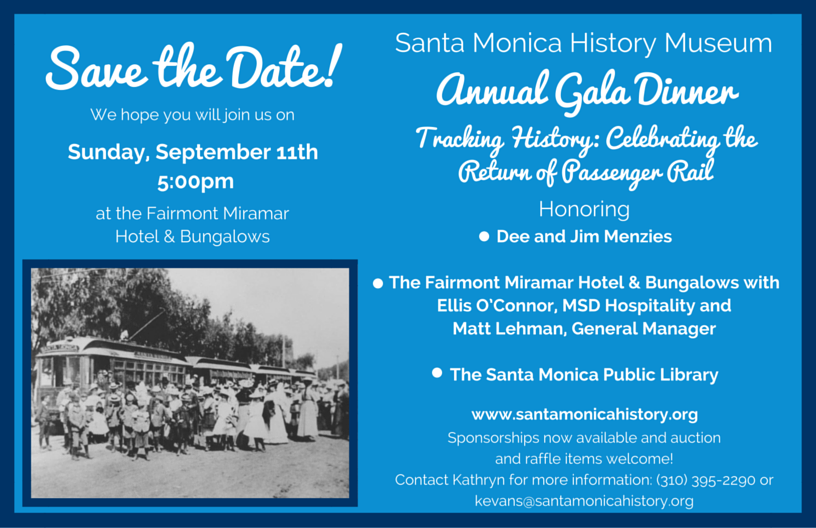 Santa Monica History Museum Gala Tribute Dinner