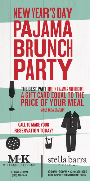 New Years Day Pajama Brunch Party Santa Monica