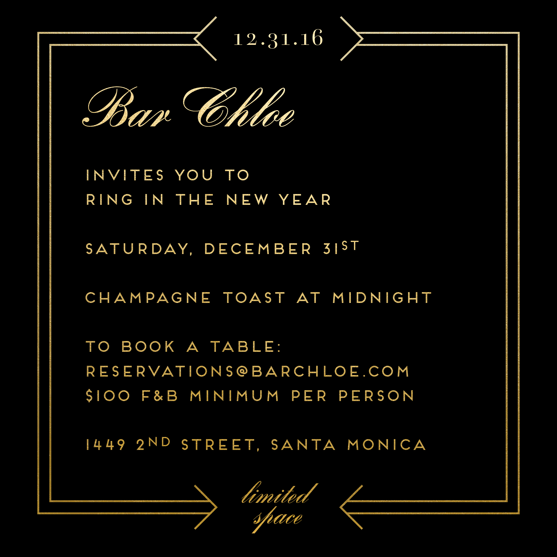 Ring in the New Year at Bar Chloe  2e8edf74866b