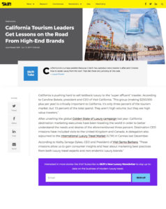 California Tourism Leaders Get Lessons on the Road from High-End Brands