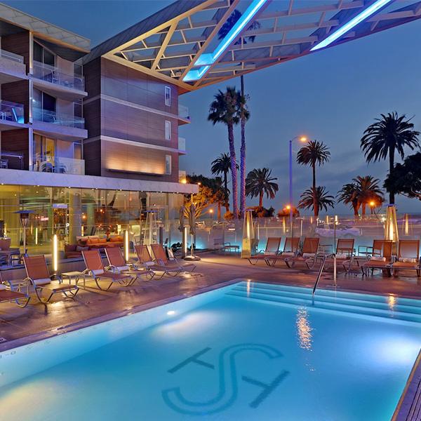 Santa Monica pool Shore Hotel