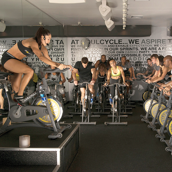 Soul Cycle spinning class