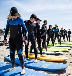 Learning to surf in Santa Monica