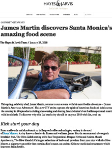 James Martin Santa Monica Food Scene