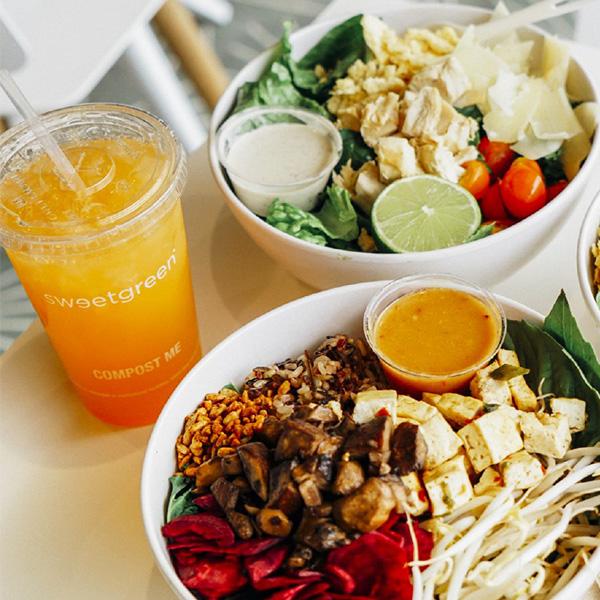 Sweetgreen salad and vegetable bowl