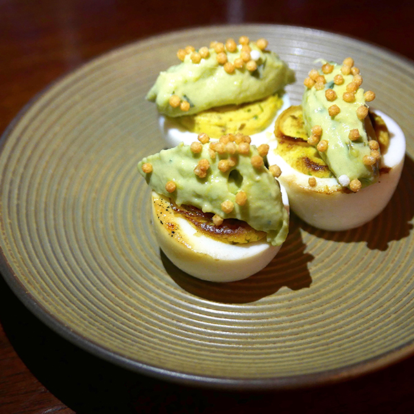 The Lobster Restaurant deviled egg dish