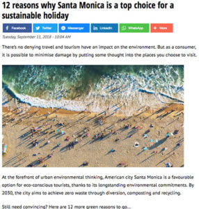 12 reasons why Santa Monica is a top choice for a sustainable holiday