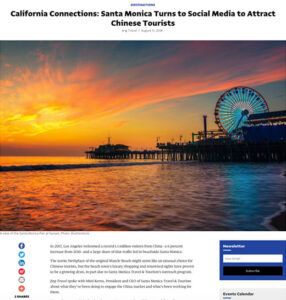 California Connections: Santa Monica Turns to Social Media to Attract Chinese Tourists