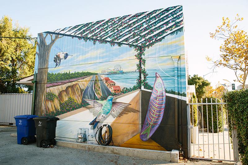 Mural of outdoor patio