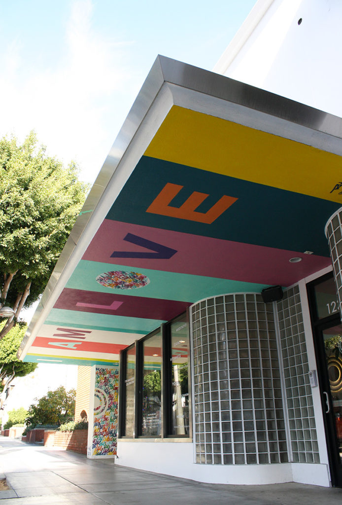 """I am love"" mural"