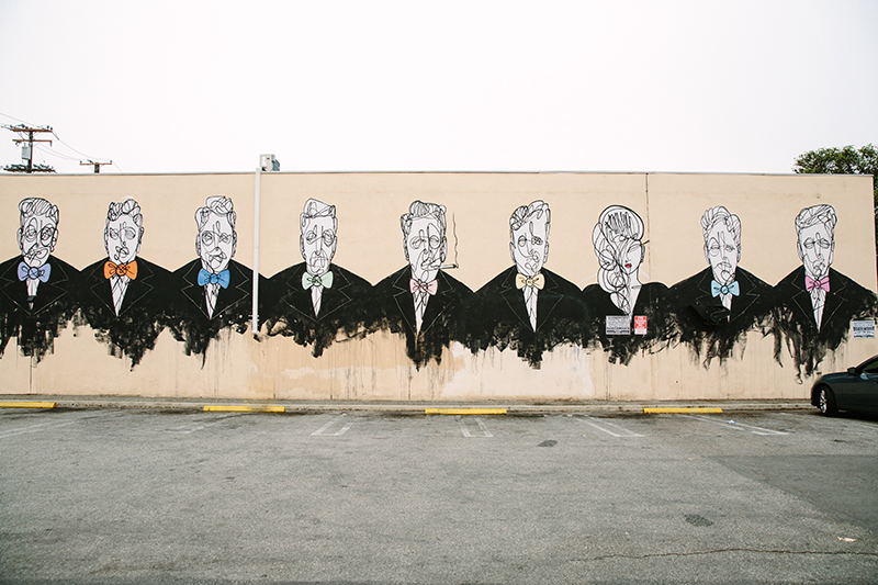 Mural of abstract portraits