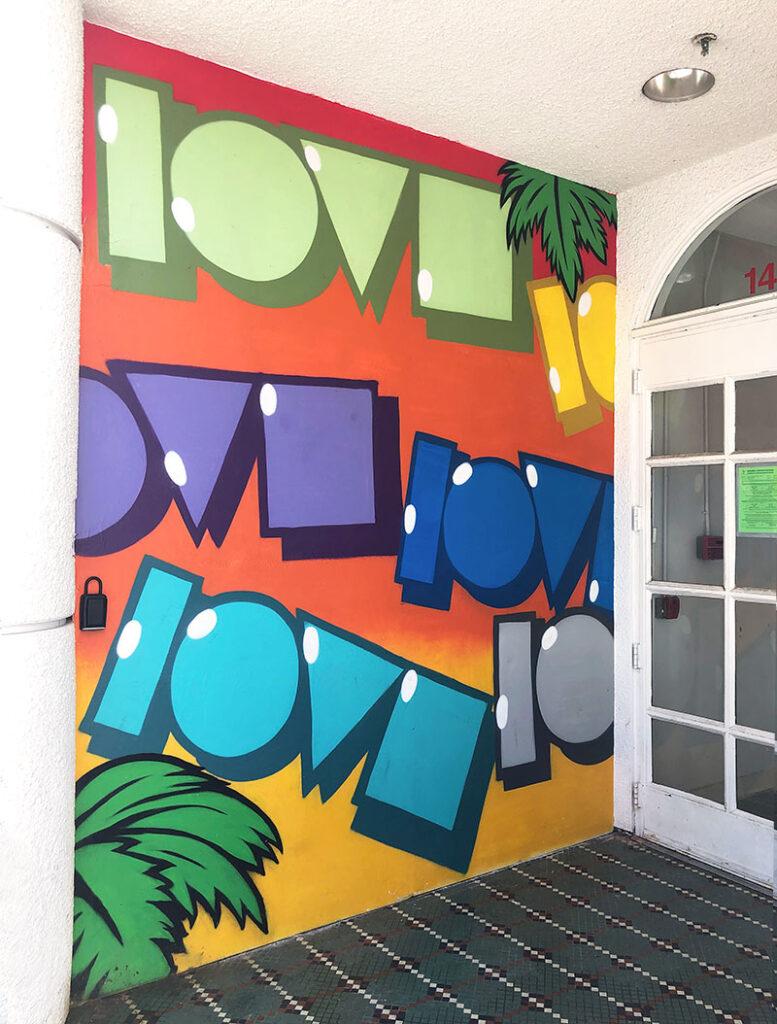 """""""Love"""" mural"""