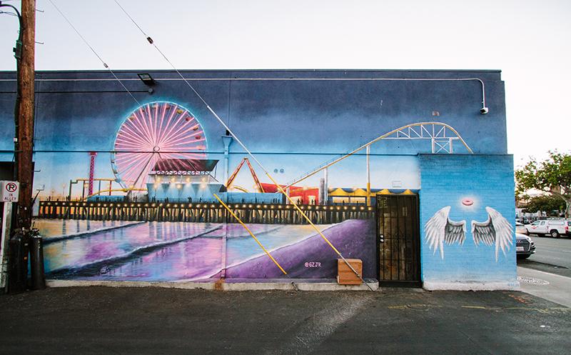 Santa Monica Pier mural