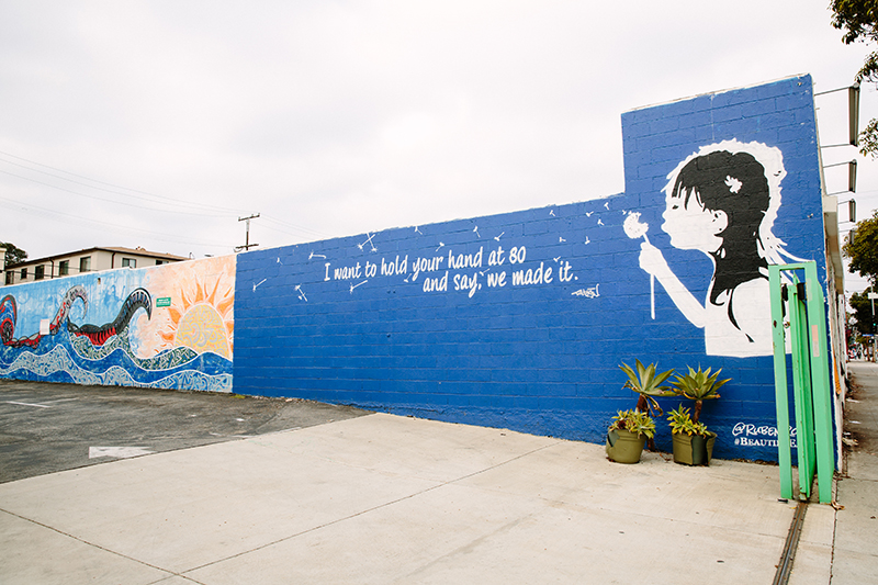 Mural of young girl
