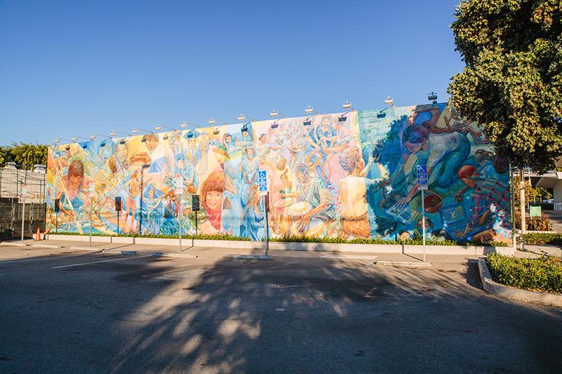 Mural of multiple people