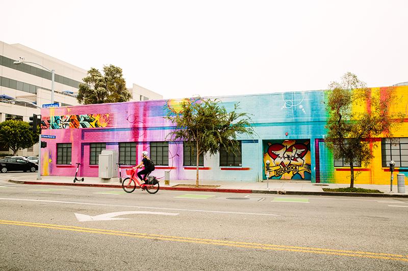 Multi-colored mural