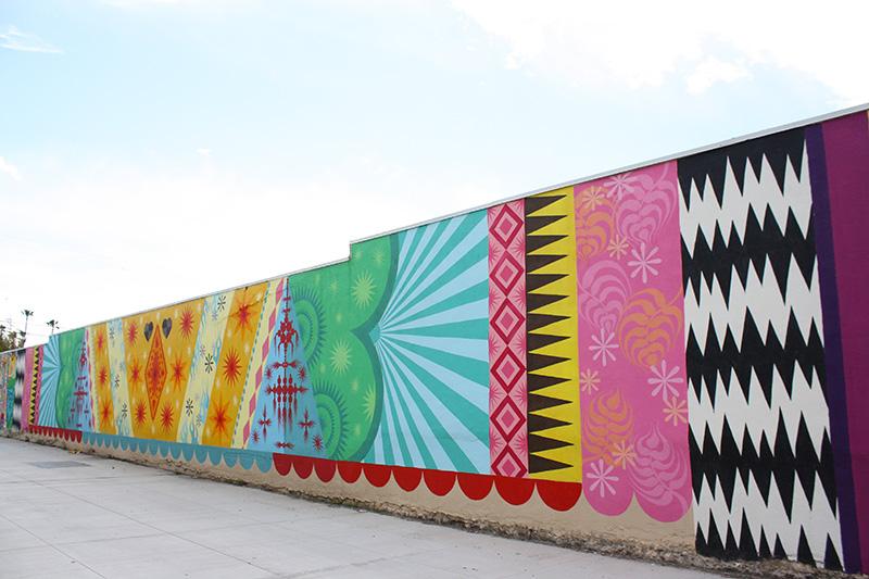 Patterned mural