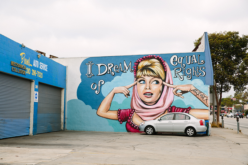 """Mural of """"I Dream of Jeannie"""""""