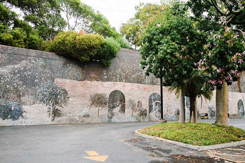 Mural of tree landscape