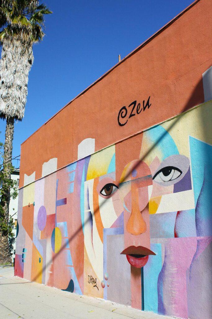 Cubist art mural