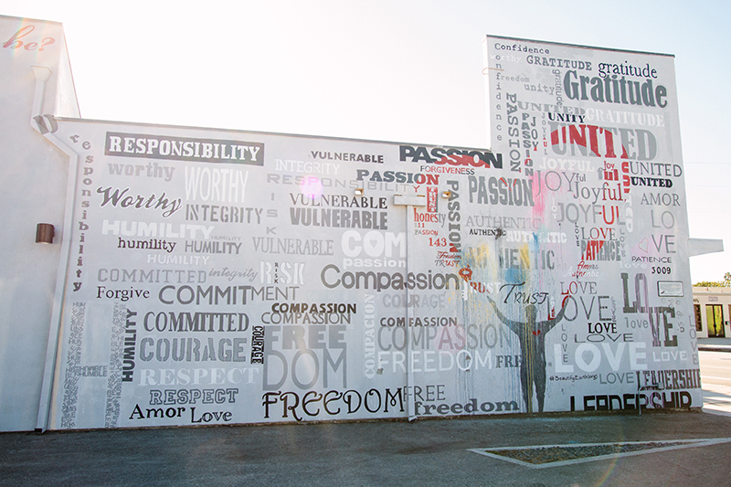 Mural of word cloud
