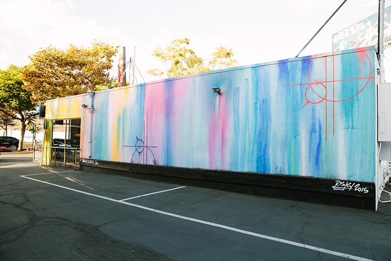 Pastel colored mural