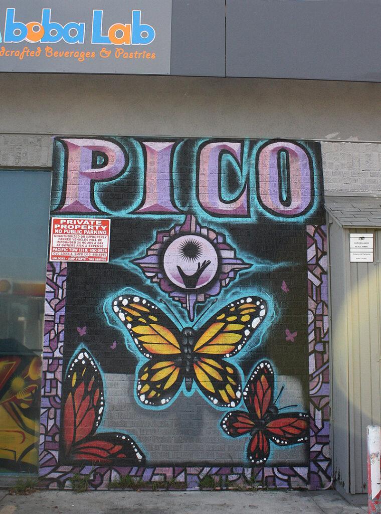 Mural of butterflies