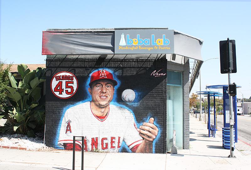 Mural of Tyler Skaggs