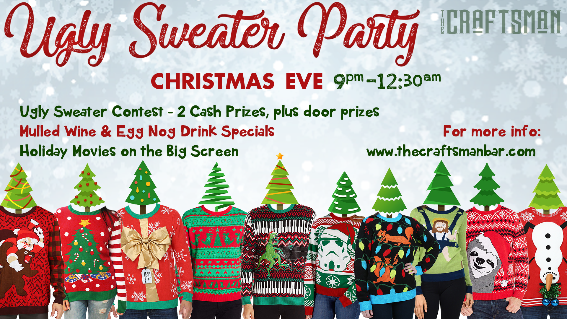 Christmas Eve Ugly Sweater Party at The Craftsman Bar and Kitchen