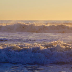 Ocean waves off of Santa Monica Beach