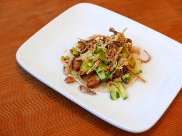 Curious Palate Thai Chicken Satay Taco