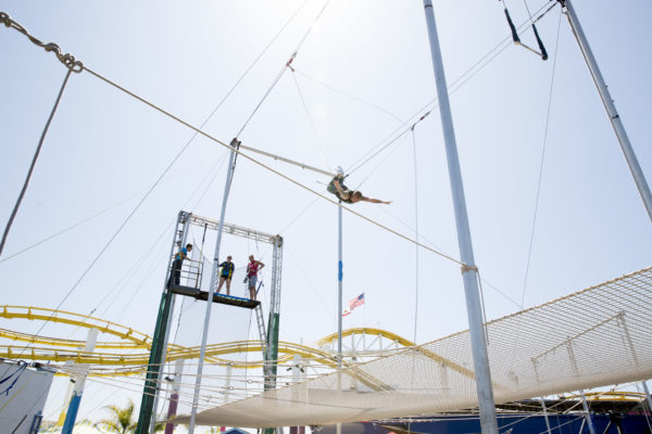 Flying trapeze class at Trapeze School New York: Los Angeles