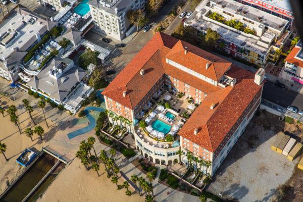 Aerial view of Hotel Casa del Mar