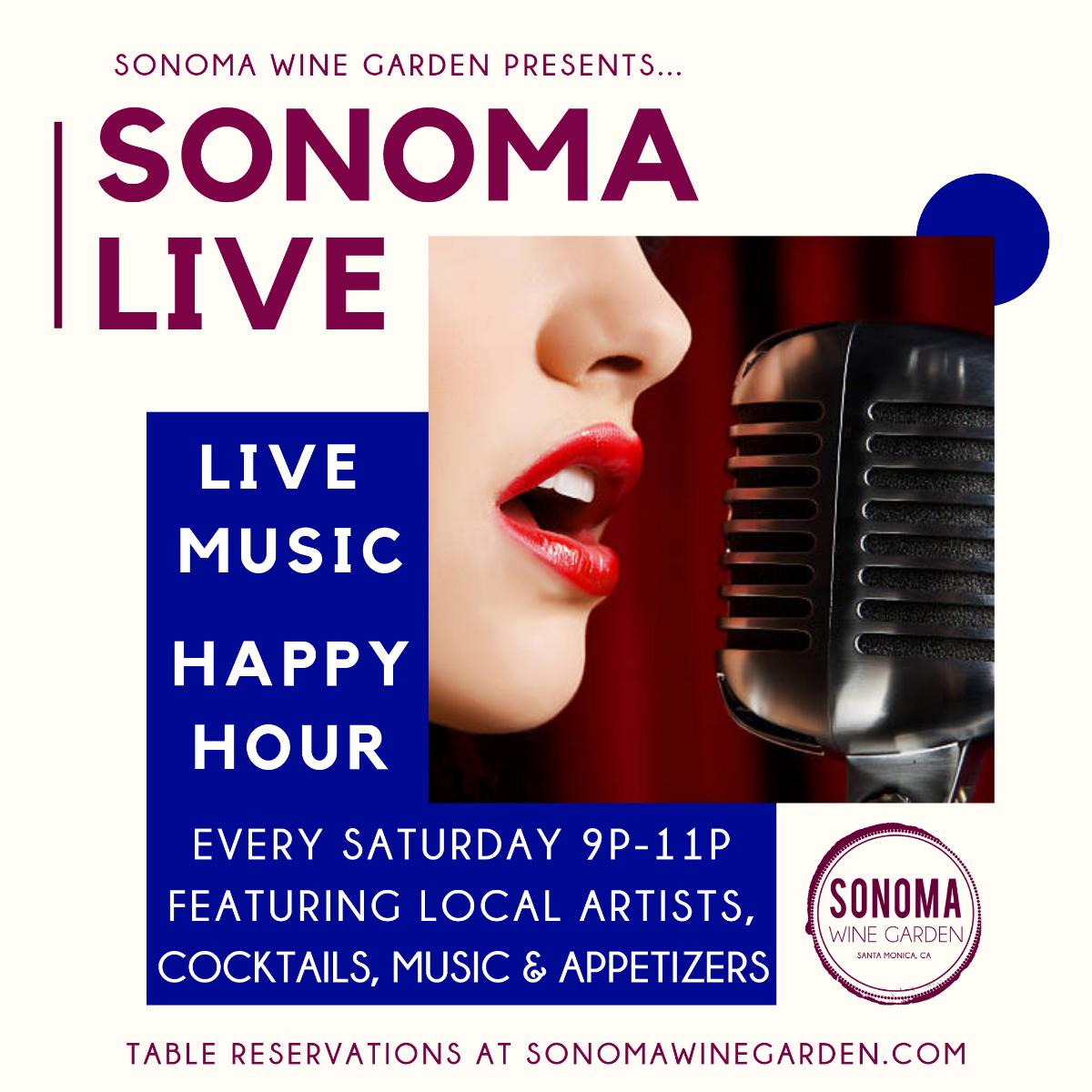 Live Music Saturdays at Sonoma Wine Garden