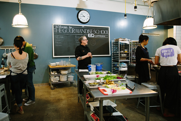 Cooking class at Gourmandise School of Sweets and Savories
