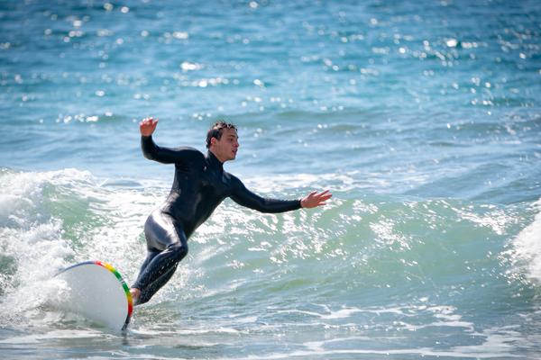 Man surfing in Santa Monica