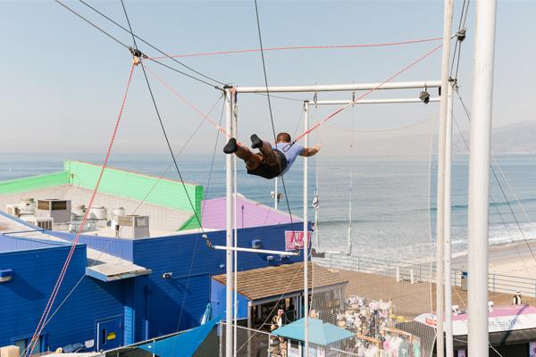 Acrobat at Trapeze School New York