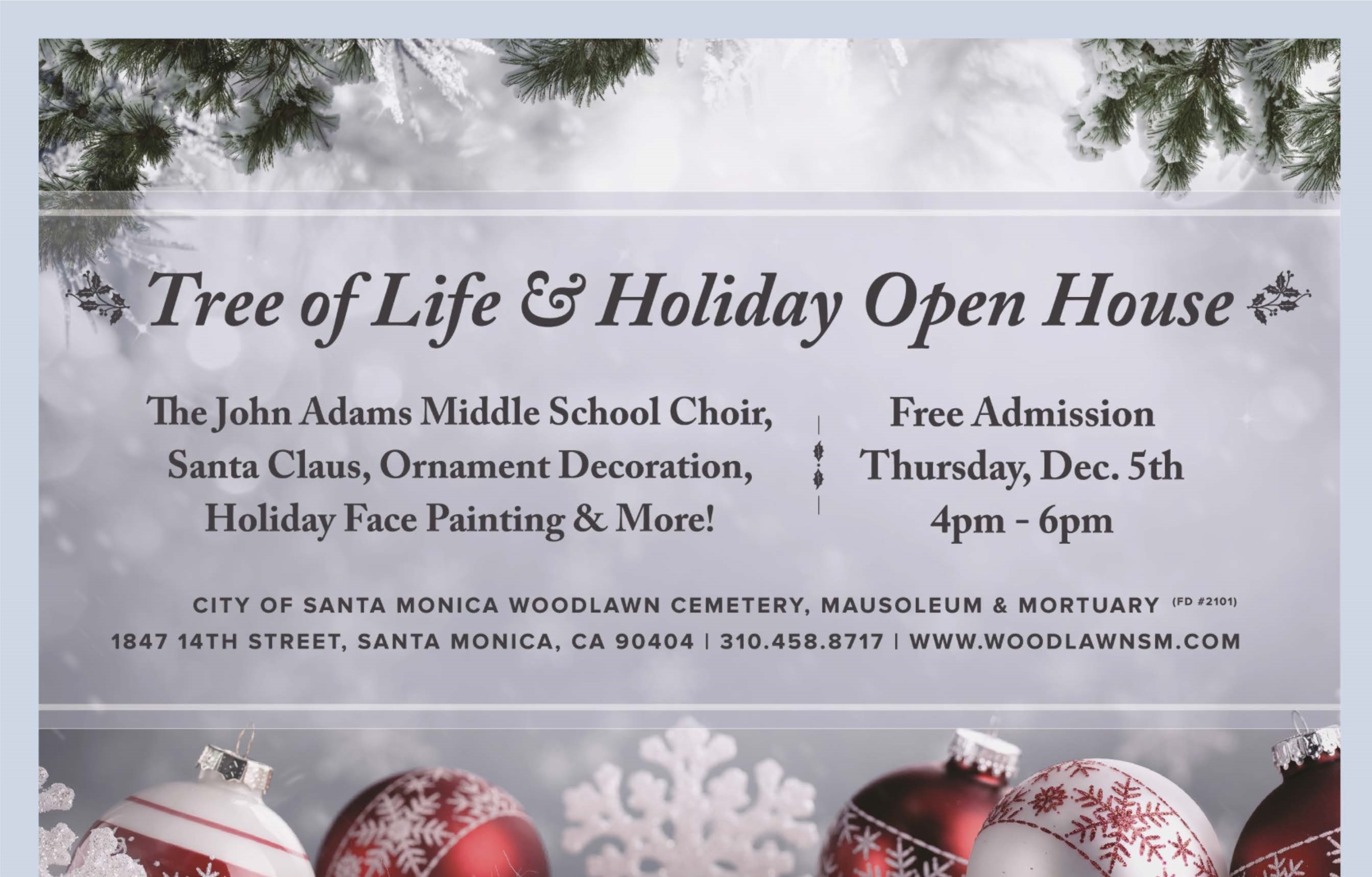 TREE OF LIFE & HOLIDAY OPEN HOUSE 2019