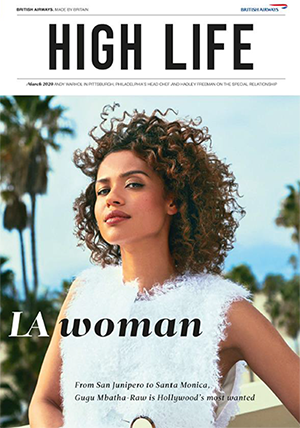British Airways High Life March 2020 - LA Woman: British Actress Gugu Mbatha-Raw in Santa Monica