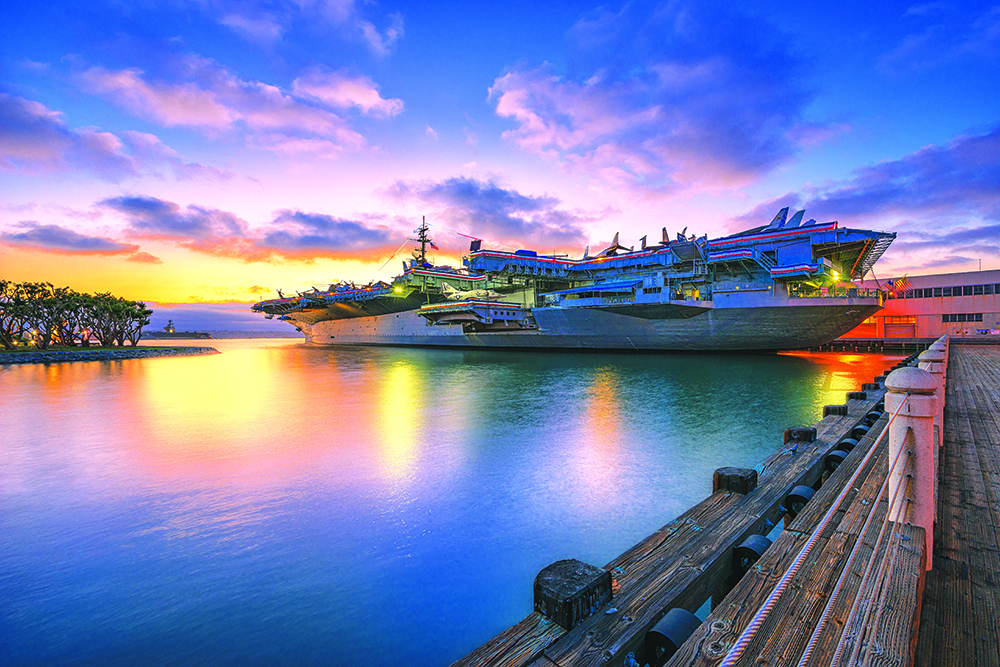 USS Midway in San Diego