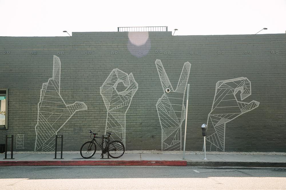 Love by Allison Kunath, a mural on Pico Blvd in Santa Monica