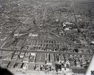 Aerial View of Santa Monica's Belmar Triangle from 1950.