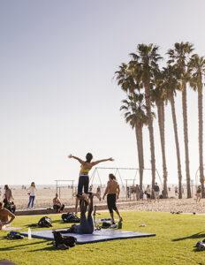 Acrobatics at Santa Monica Muscle Beach