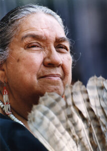 Portrait of Gabrielino Chief Vera Rocha.