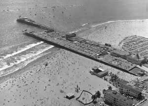 Historic picture of Santa Monica Pier from 1972.